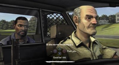 Les choix de dialogue dans The Walking Dead, en temps limité.
