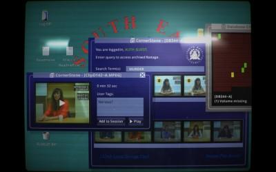 L'interface de Her Story est celle d'un vieil ordinateur, jusque dans le rendu de l'image.