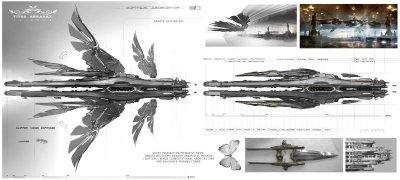 Les vaisseaux ont été conçus avec l'idée de les rendre classes et flamboyants, comme le sont aujourd'hui les véhicules de transports des gens riches.